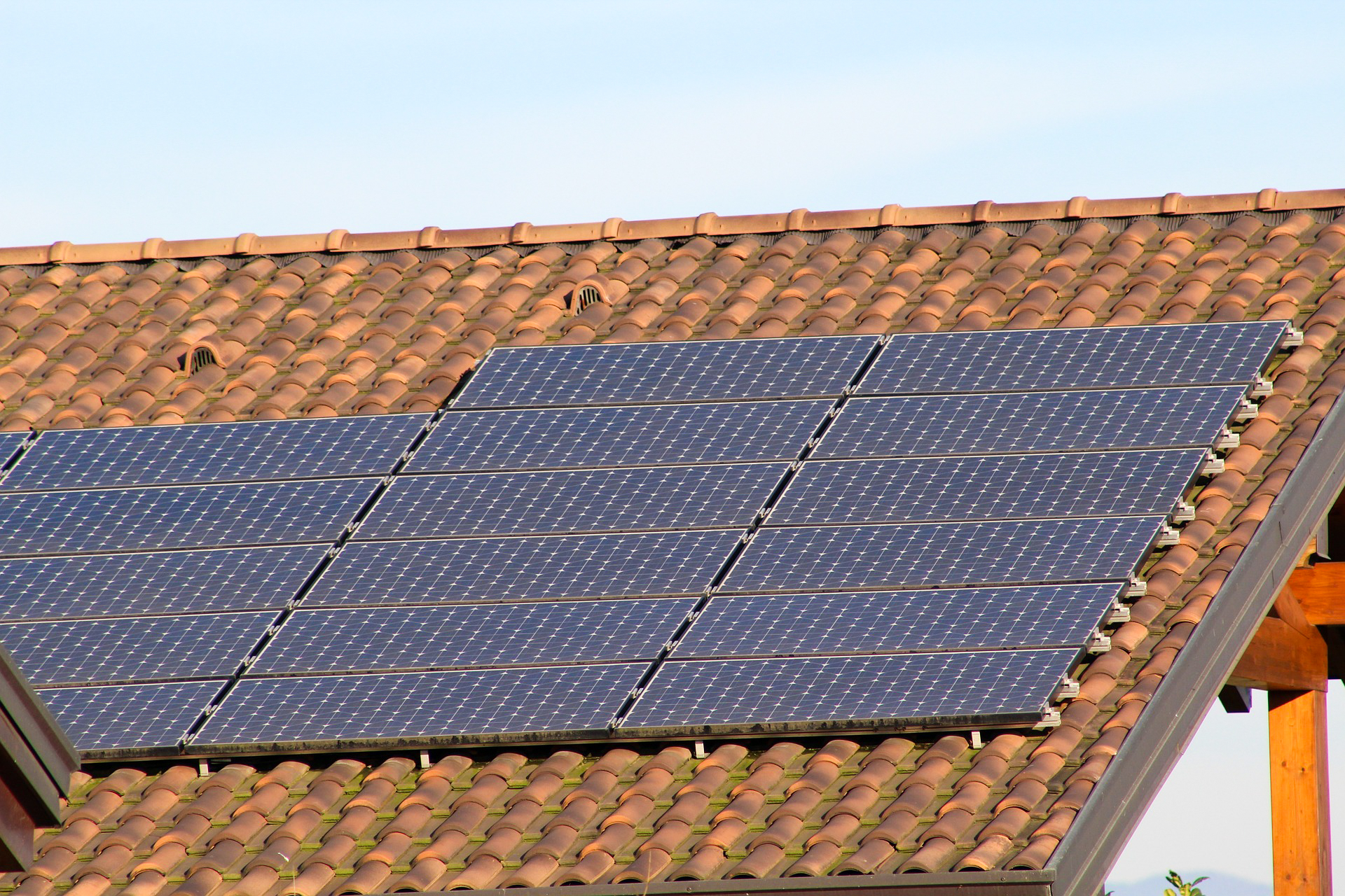 Solar PV array.