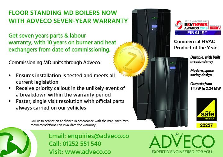Adveco MD boiler seven year warranty
