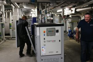 TOTEM m-CHP installed location, refurbishing an existing plant room.
