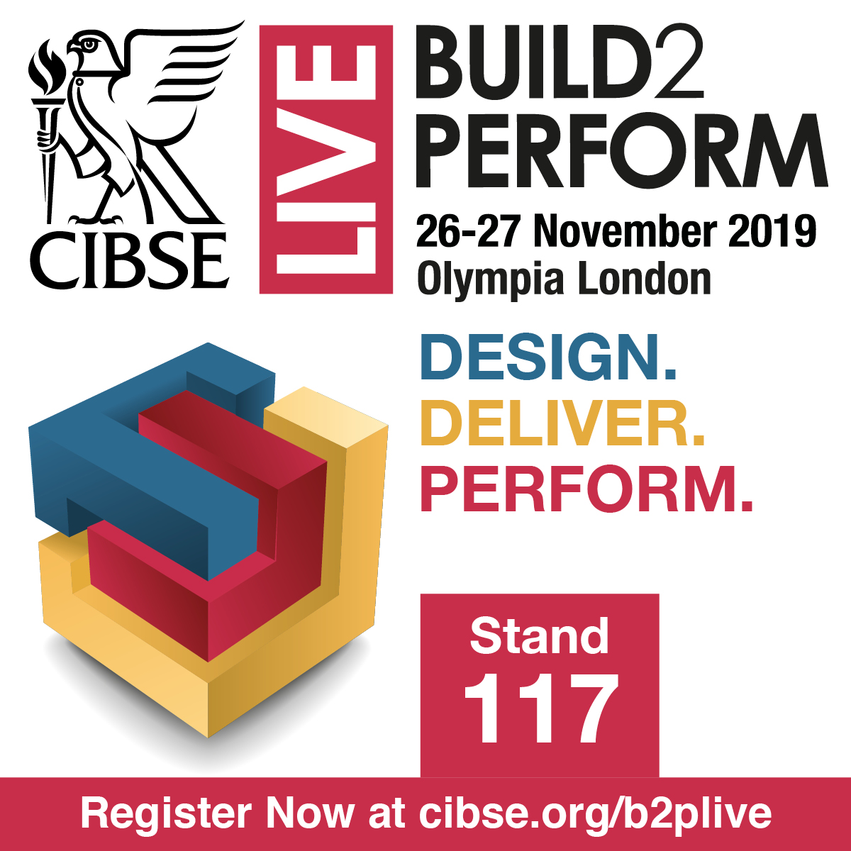 Build2Perform stand banner