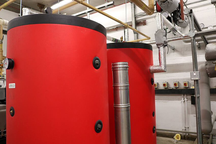 First response - thermal storage tanks for the London Fire Brigade.