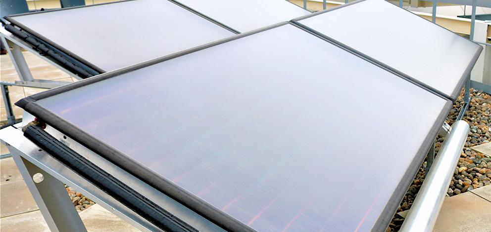 Solar collector panels.