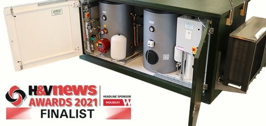 Packaged e-Hot Water System Named Finalist in 2021 H&V News Awards
